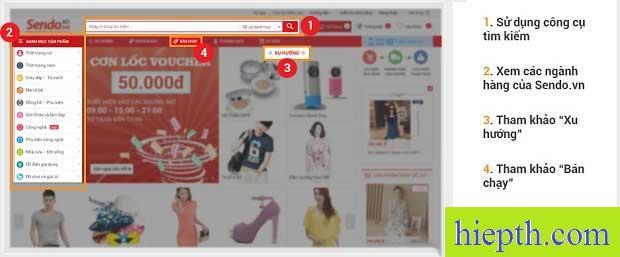4 cách lựa chọn sản phẩm khi mua hàng trên Sendo.vn